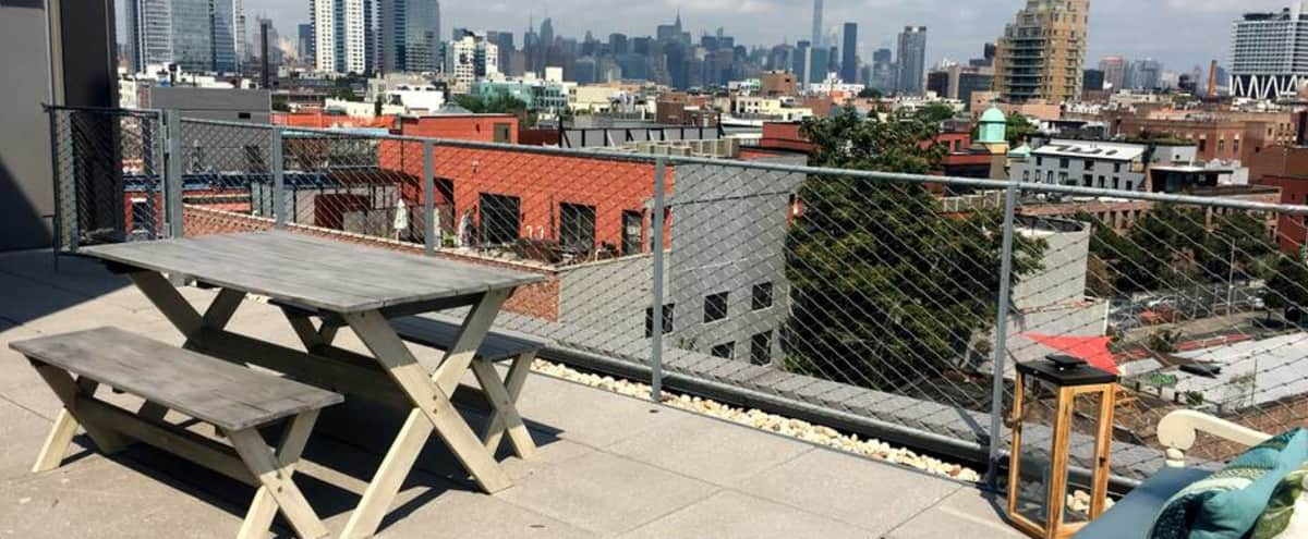 Brand New Williamsburg Rooftop with Amazing Manhattan Skyline View in brooklyn Hero Image in Williamsburg, brooklyn, NY