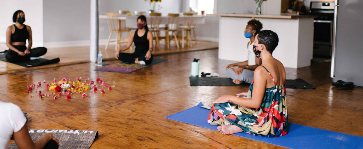 Sunny Bohemian Yoga Studio in Chicago Hero Image in New City, Chicago, IL