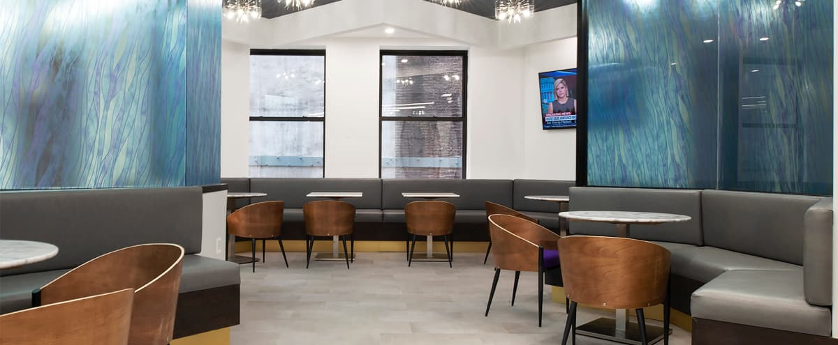 Entire 9000 SF Floor-multi windows-Lounge and Meeting rooms in New York Hero Image in Midtown, New York, NY