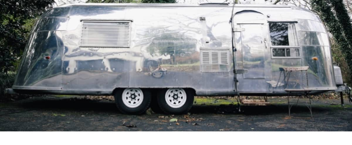 Vintage 1954 Airstream Whale Tail in Nashville Hero Image in Green Hills, Nashville, TN