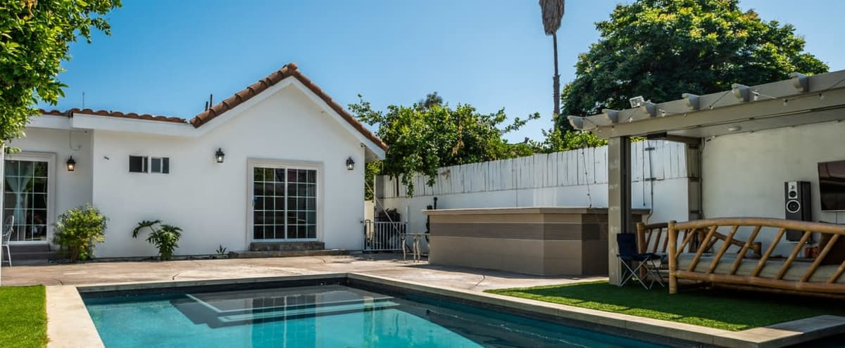 Modern Backyard Oasis- Luxury Pool/Jacuzzi/Entertainment Area in Valley Village Hero Image in Valley Glen, Valley Village, CA
