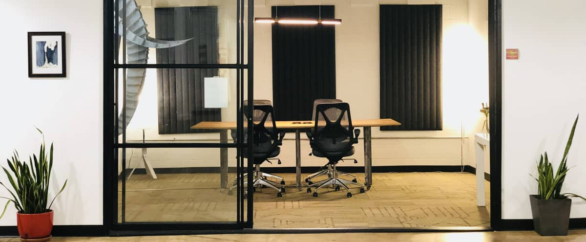 Industrial + Cozy Conference Room in Dallas Hero Image in Cedars, Dallas, TX