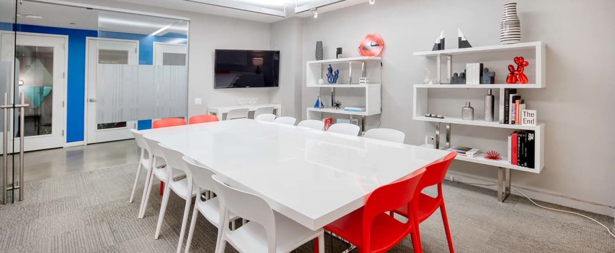 Creative Conference Room with TV & Whiteboard Wall - Seats up to 16 in New York Hero Image in Midtown, New York, NY