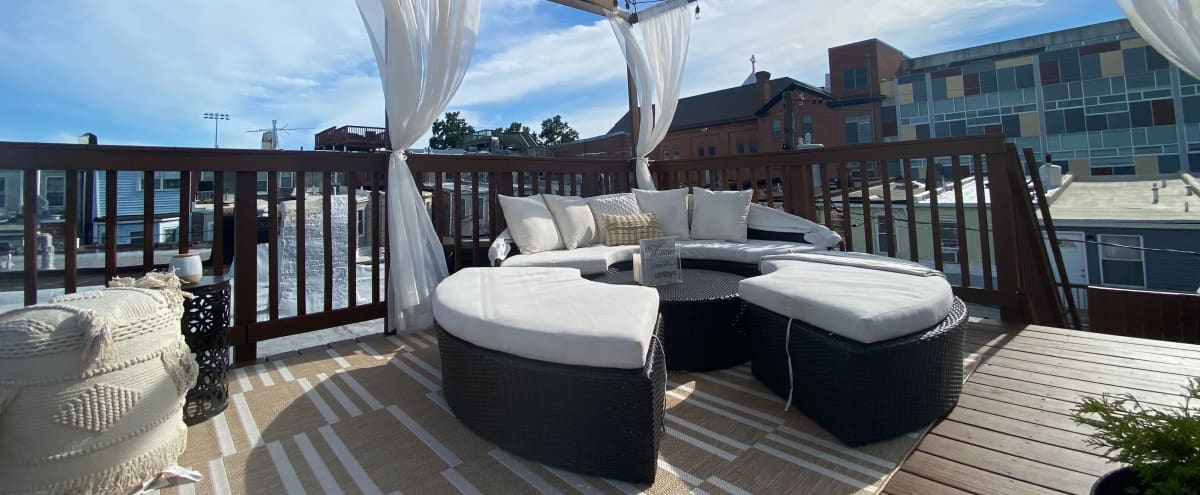 Modern Glam Rowhome w/Gorgeous Roof Top in Baltimore Hero Image in Patterson Park, Baltimore, MD
