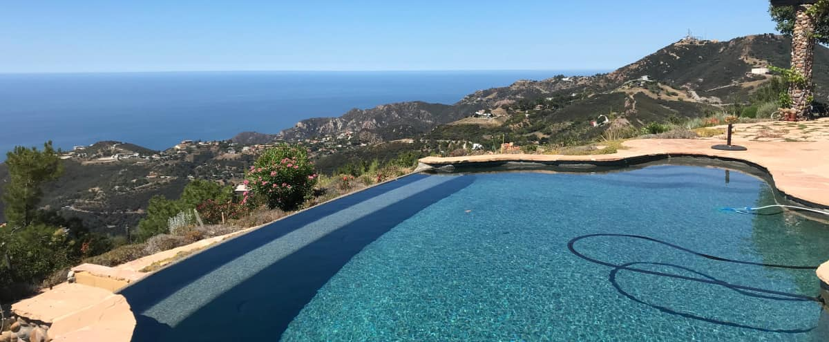 Mountain Top Lodge with Infinity Pool and 360 views in Topanga Hero Image in undefined, Topanga, CA