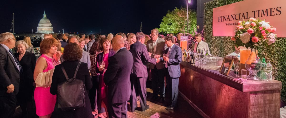 Rooftop Event Space with Panoramic City Views in Washington Hero Image in Northwest Washington, Washington, DC