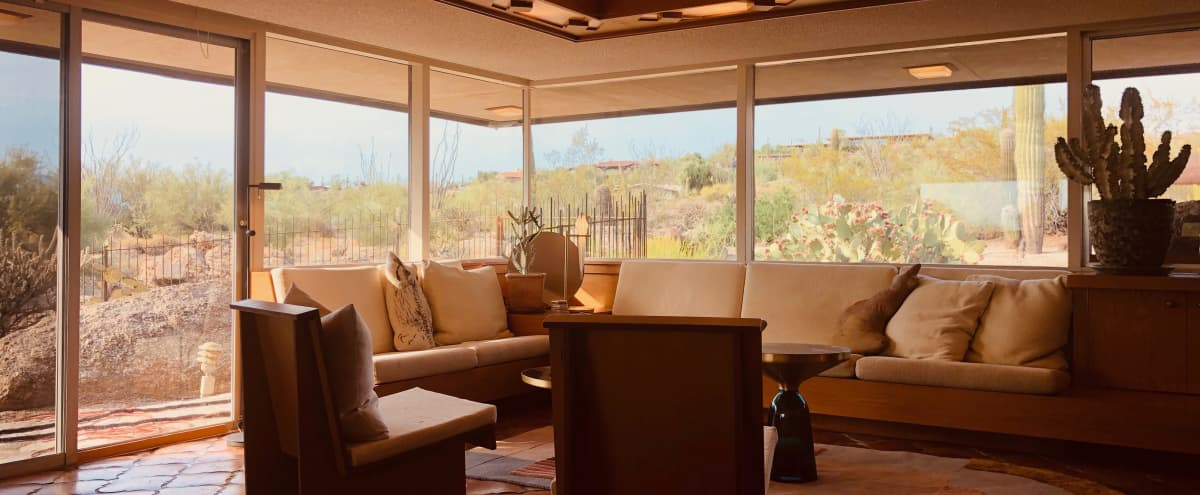 Sultry Southwestern Mid Century Modern Desert House with Mountain Views in Carefree Hero Image in Carefree Arizona, Carefree, AZ