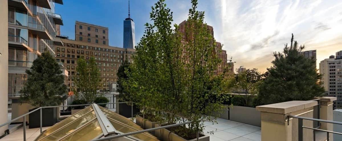 Tribeca Penthouse with Landscaped Terraces and Wraparound Views in New York Hero Image in Lower Manhattan, New York, NY
