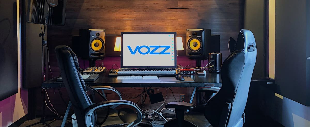 Modern Music Production Studio in The Heart of Hollywood - Acoustic Treatment, Adjustable Lighting, Gated with 24-hr Surveillance. in Los Angeles Hero Image in Hollywood, Los Angeles, CA