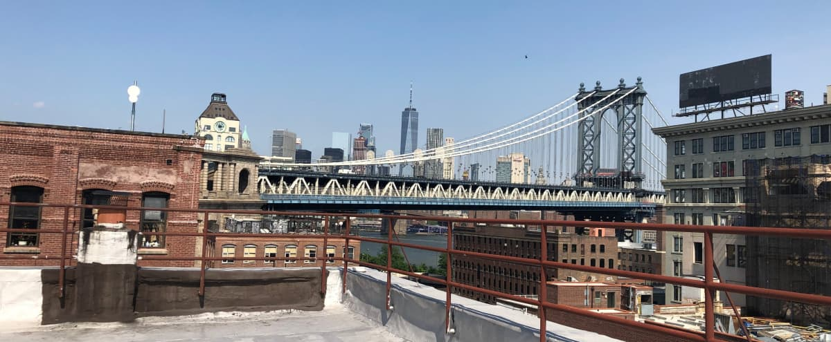 DUMBO Rooftop with scenic views of Manhattan! in Brooklyn Hero Image in Dumbo, Brooklyn, NY