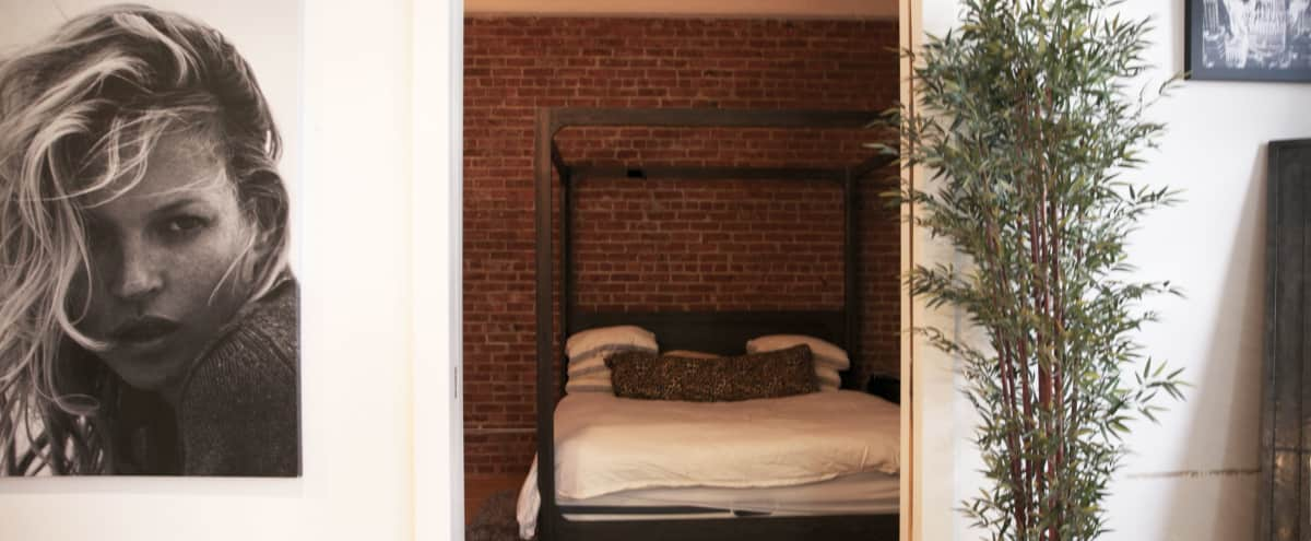 Downtown Loft with highland view. Natural brick wall in new york Hero Image in Chelsea, new york, NY