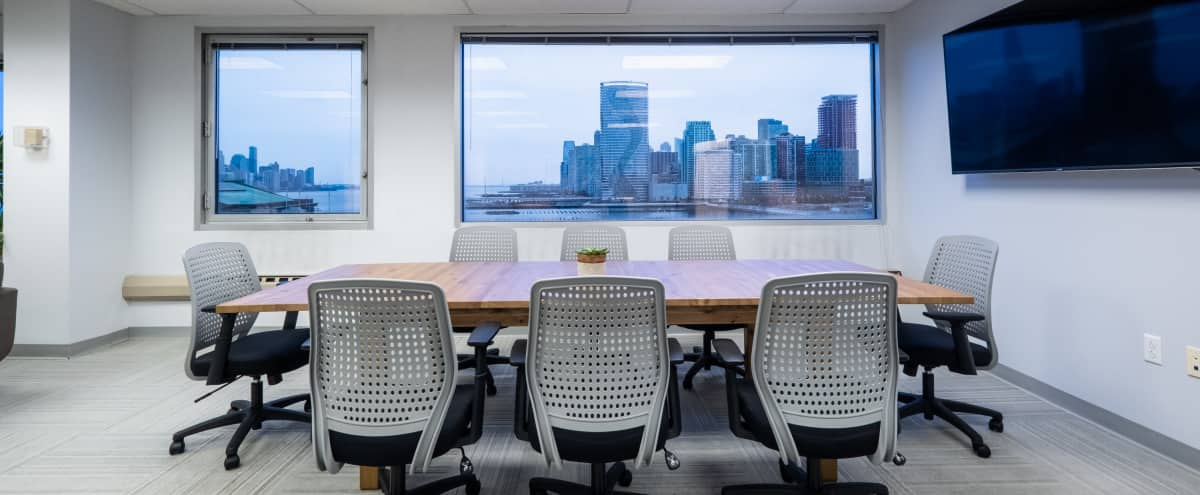 Modern Boardroom with NYC skyline views in Hoboken Hero Image in undefined, Hoboken, NJ