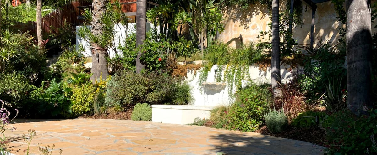 Terraced Spanish Style Garden with Fountain in Los Angeles Hero Image in Central LA, Los Angeles, CA