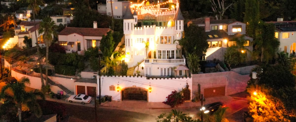 Castle overlooking Hollywood in los angeles Hero Image in Hollywood Hills, los angeles, CA