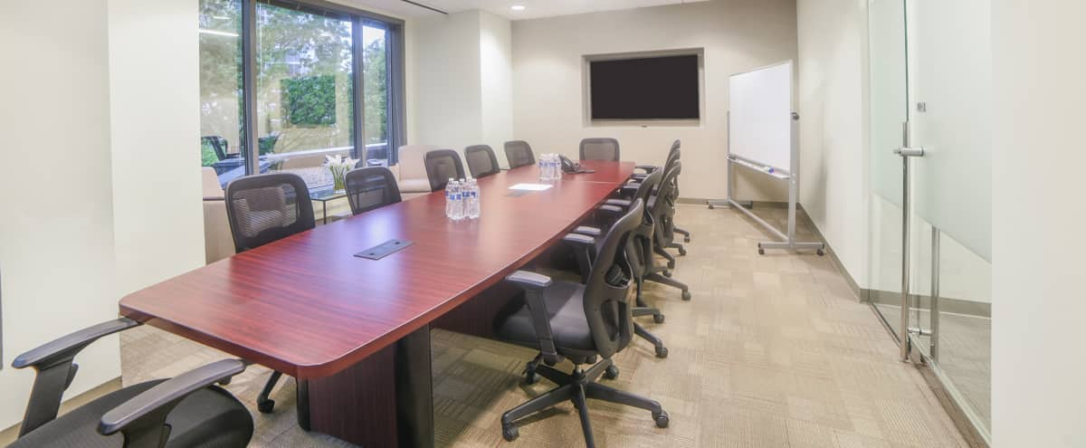14 Person Corporate Meeting & Presentation Room in Atlanta Hero Image in Buckhead, Atlanta, GA