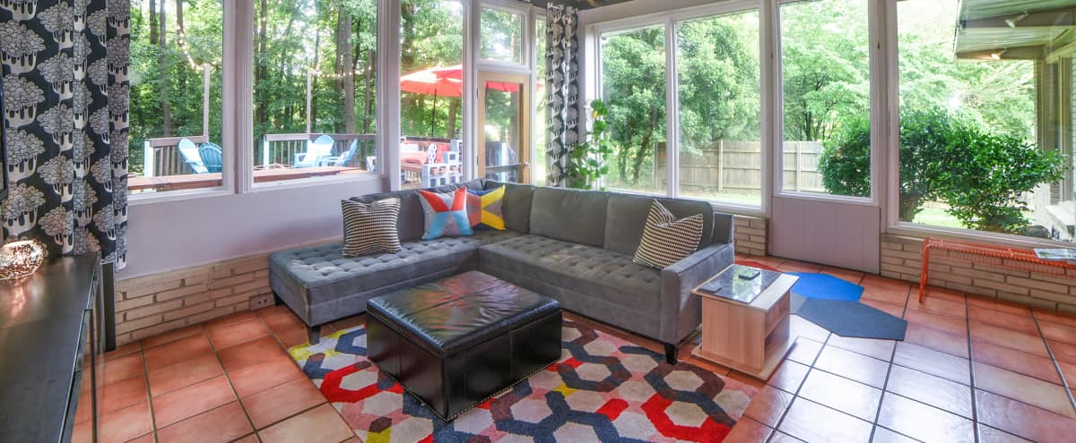 Bright Mid Century Modern Inspired with Great Outdoor Event Space in Atlanta Hero Image in Forest Acres, Atlanta, GA