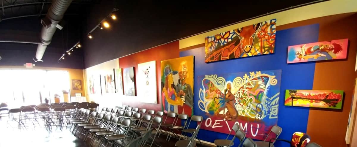 Colorful Sandy Springs Art Gallery Meeting Space in Atlanta Hero Image in undefined, Atlanta, GA