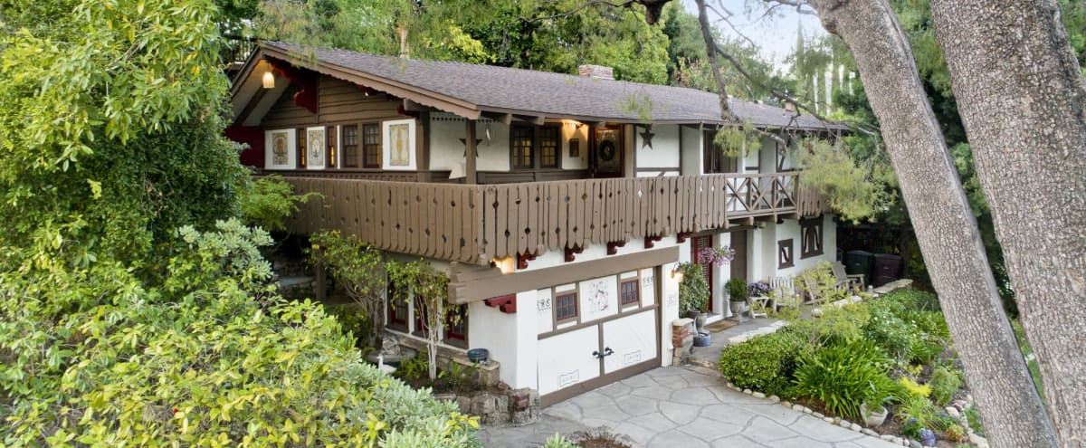 The Swiss Chalet: Quaint Character, Pool, and Stunning Views in Glendale Hero Image in Verdugo Woodlands, Glendale, CA