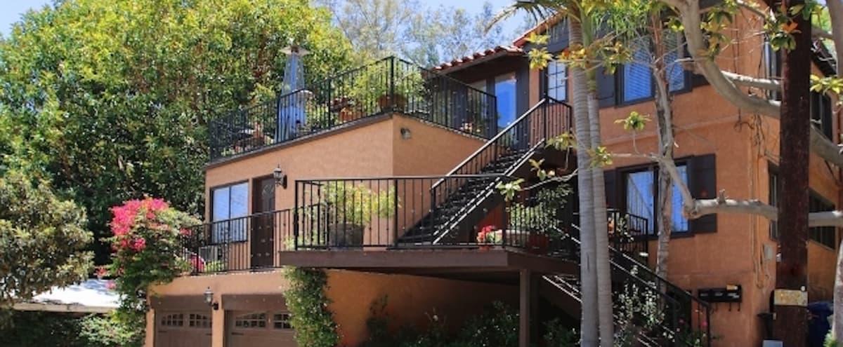 Hollywood Hills Mediterrnean Magical Terraced Garden in Los Angeles Hero Image in Central LA, Los Angeles, CA