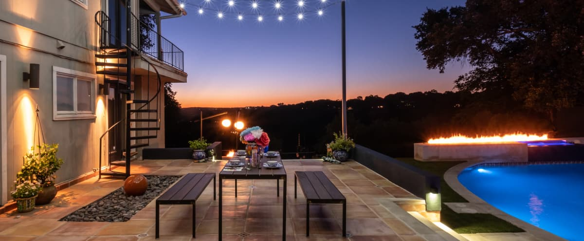 Casa Vicente - North Central Austin-Fabulous Property w/ View, Pool and Incredible Outdoor Living Space in Austin Hero Image in Northwest Hills, Austin, TX