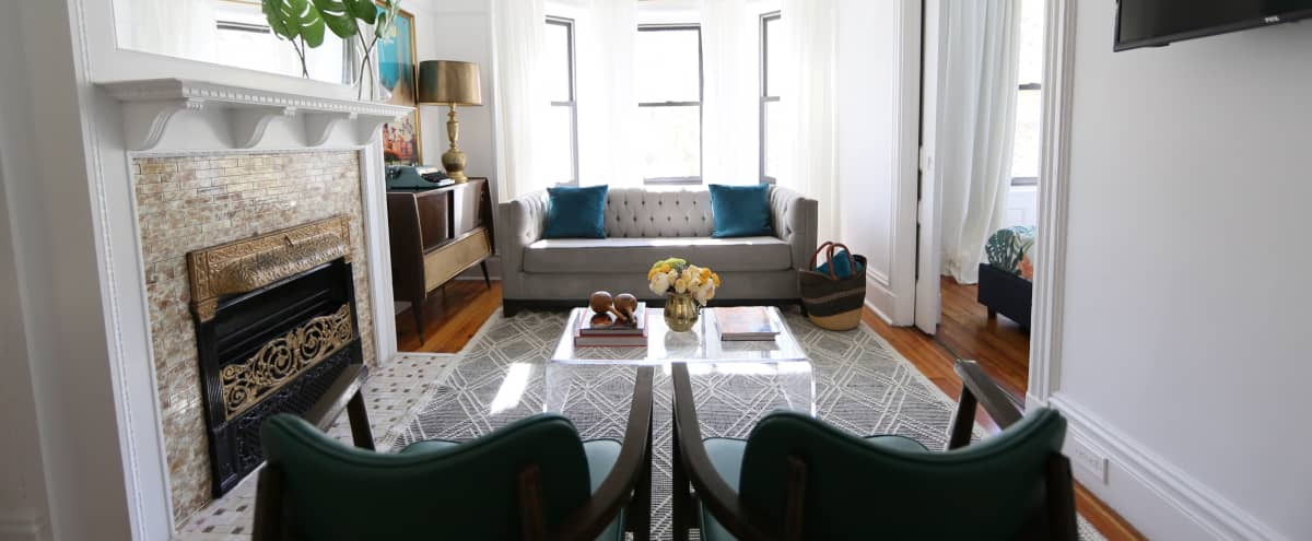 Chic Brownstone Interview Space in Brooklyn Hero Image in Bedford-Stuyvesant, Brooklyn, NY