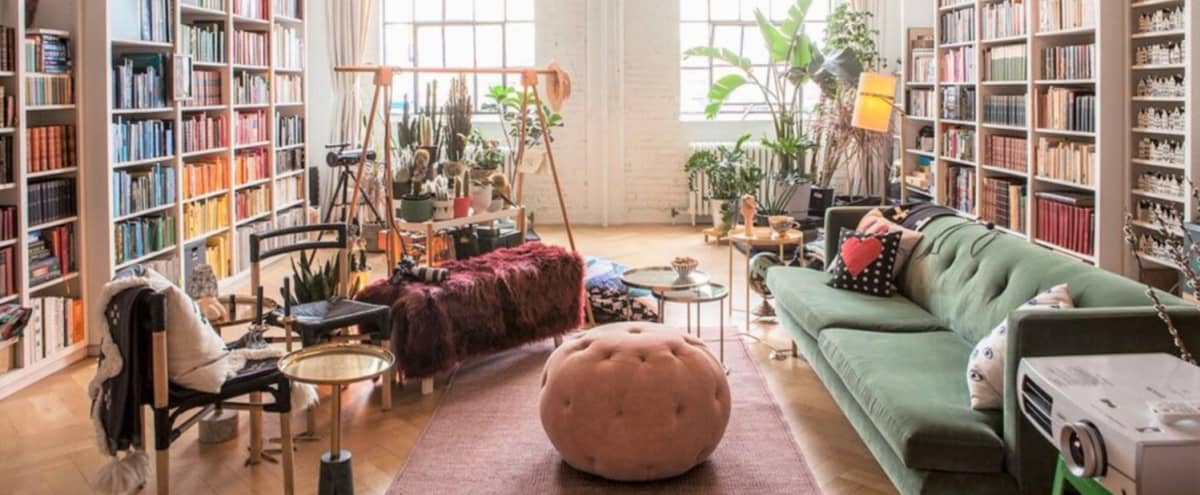 Open Space Colorful Loft in Toronto Hero Image in Leslieville, Toronto, ON