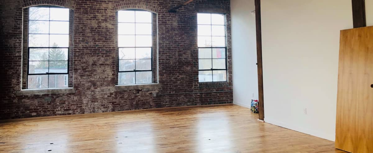 Spacious Frankford Studio w/ Exposed Brick, Gorgeous Sunlight, and Restored Beauty in Philadelphia Hero Image in Frankford, Philadelphia, PA