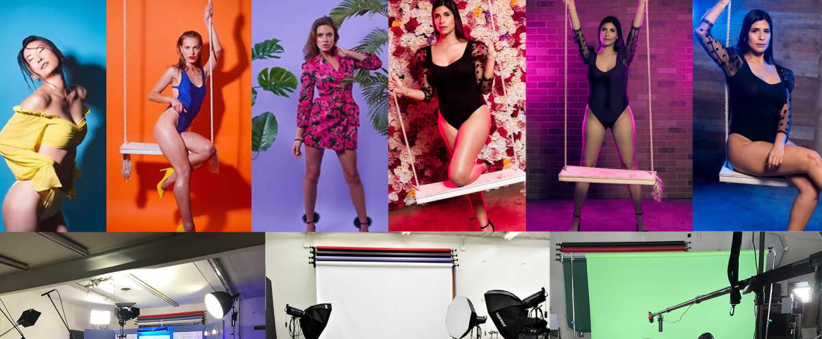 Studio With Swing, Lights, Backdrops, Props, Flats, Fog machine and more in Panorama city Hero Image in Van Nuys, Panorama city, CA
