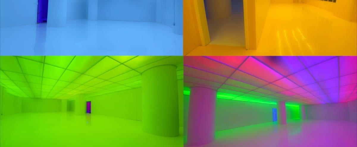 Neon Color-Changeable Warehouse DTLA in Los Angeles Hero Image in Central LA, Los Angeles, CA