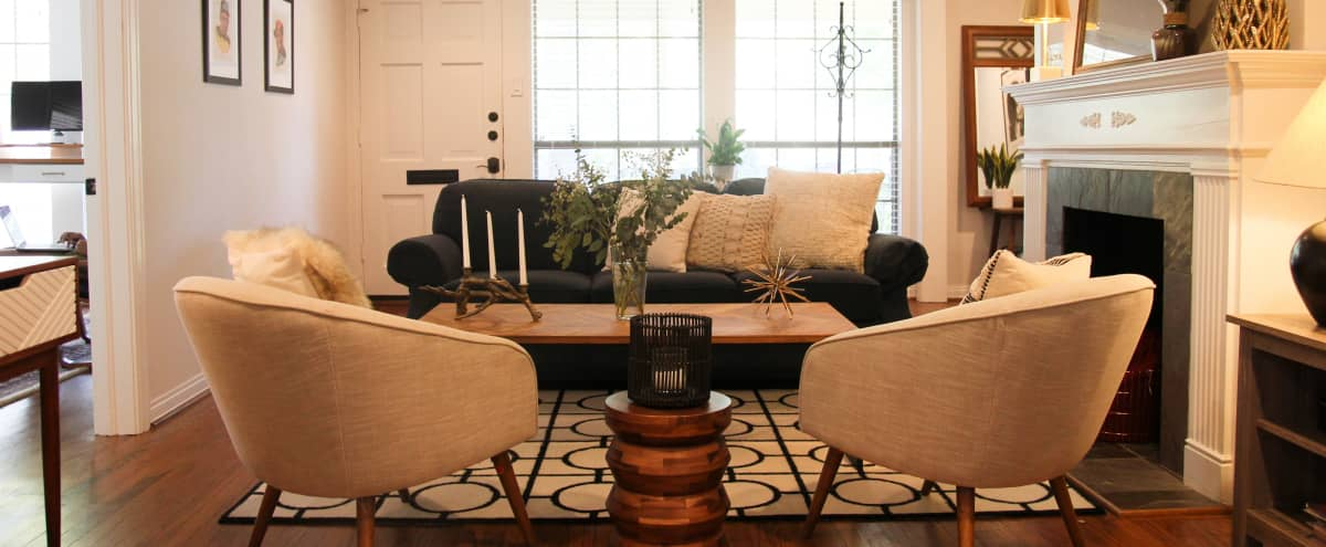 """Dallas Duplex as featured in Refinery29's """"My Sweet Digs"""" with a Cozy, Midcentury + Eclectic Charm in Dallas Hero Image in Lower Greenville, Dallas, TX"""