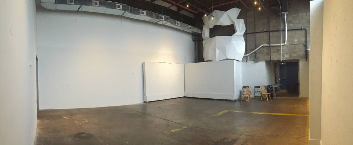 Large Open Gallery, High Ceilings & Movable Walls in Brooklyn Hero Image in Bushwick, Brooklyn, NY