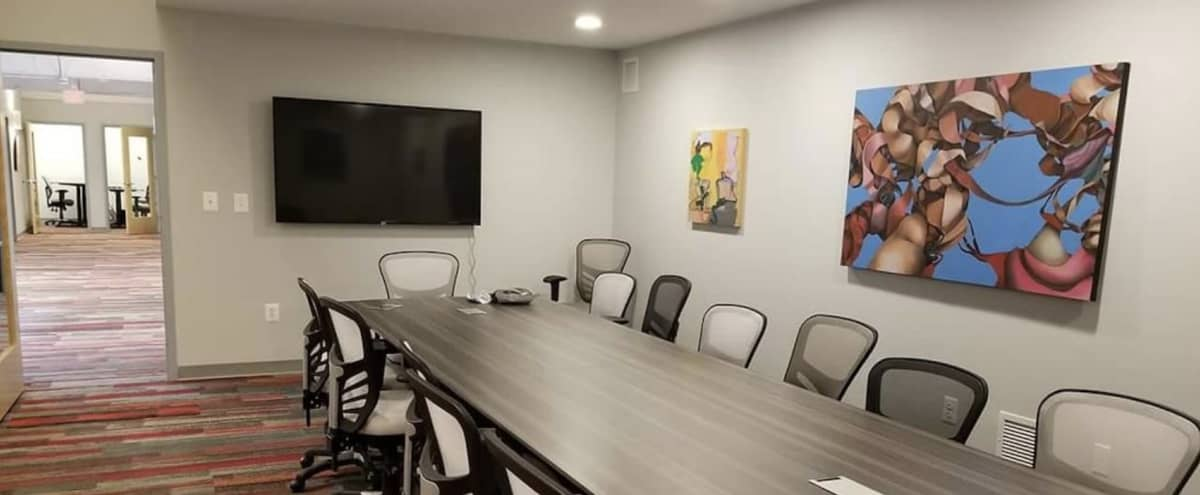 Conference Room in Art Gallery-Themed Co-working Facility in Baltimore Hero Image in Moravia - Walther, Baltimore, MD
