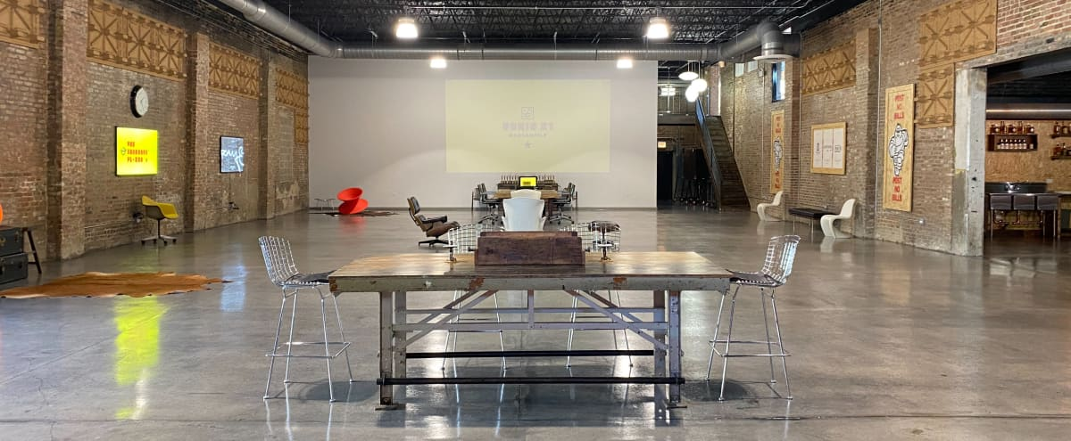Innovative, Design Forward, Industrial Loft Warehouse - Offsite Meeting, Event, & Production Space in Chicago Hero Image in Lower West Side, Chicago, IL