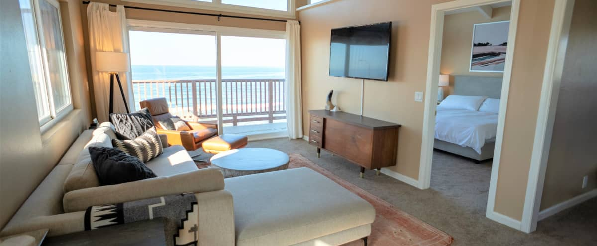 Contemporary Ocean-Front Beach Home in Oceanside Hero Image in Townsite, Oceanside, CA