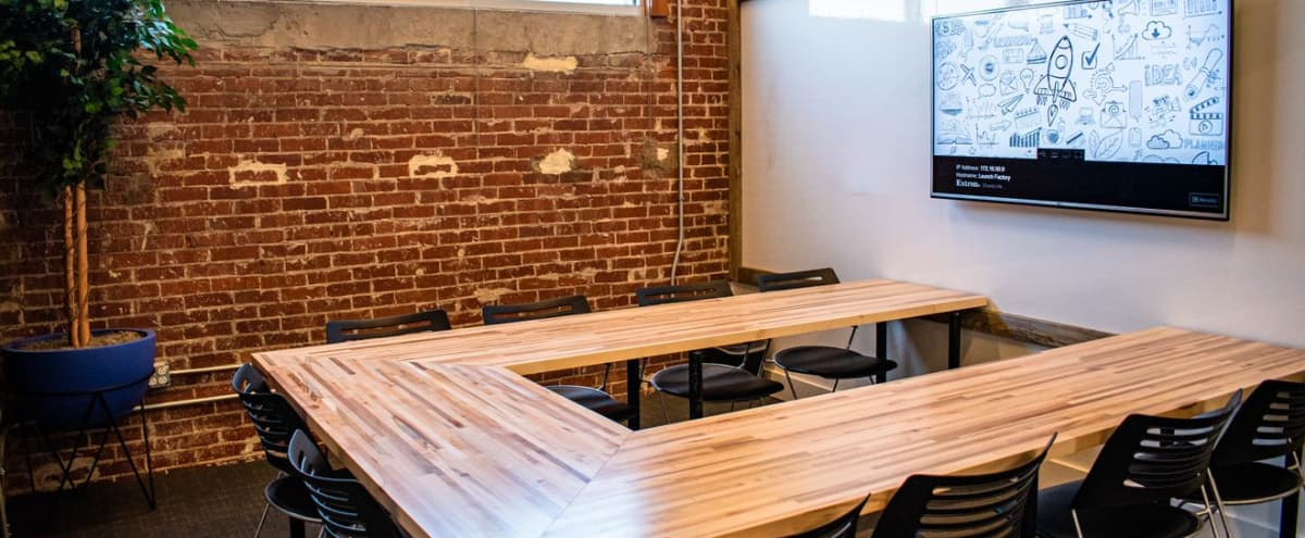 Bright Conference Room for 10 w/ Ample Breakout Space in Charlotte Hero Image in Westover Hills, Charlotte, NC