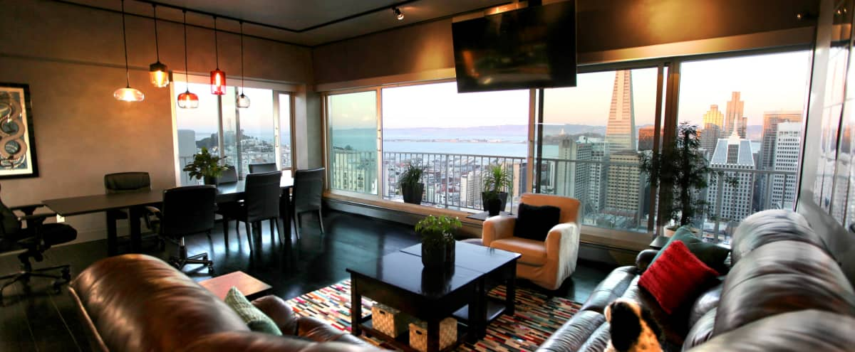 Modern, Private Sky View Apartment with Abundant Natural Light, Stunning City and Bay Views in San Francisco Hero Image in Nob Hill, San Francisco, CA