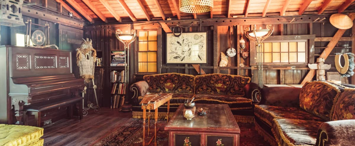 Music Studio in Topanga // Eclectic, Rustic, Cozy (SHOOTS ONLY, NO EVENTS) in Los Angeles Hero Image in undefined, Los Angeles, CA