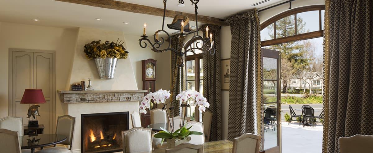 Elegant Library for Meetings and Private Meals in Los Altos Hero Image in North Los Altos, Los Altos, CA