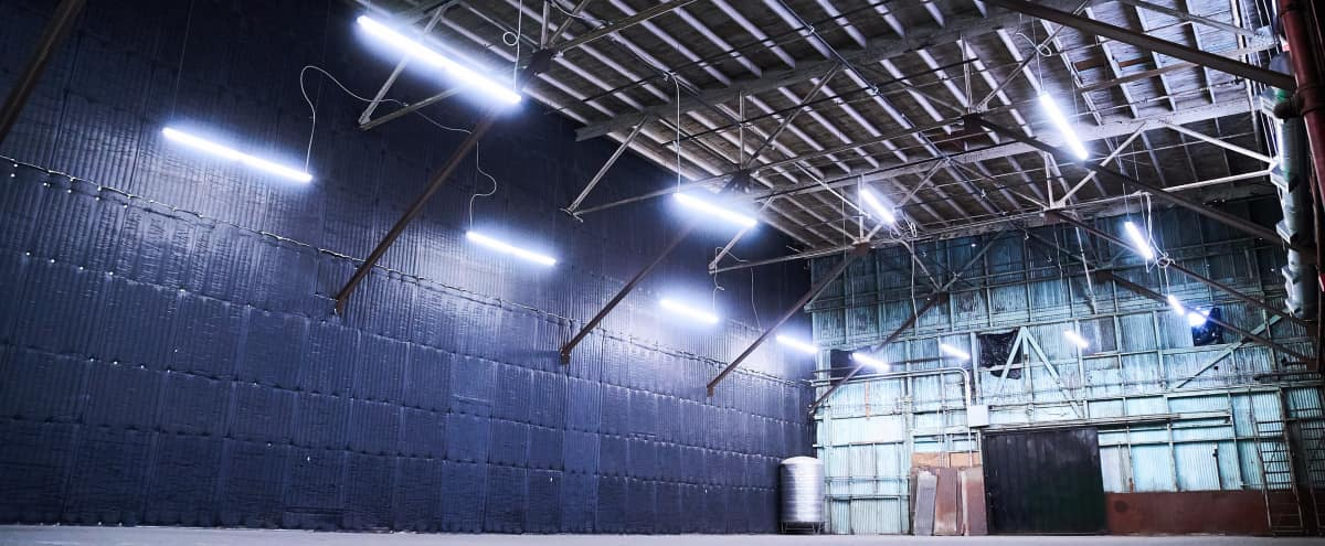Grand Warehouse Studio + CYC Wall fitted with Soundproofing in Los Angeles Hero Image in South Los Angeles, Los Angeles, CA
