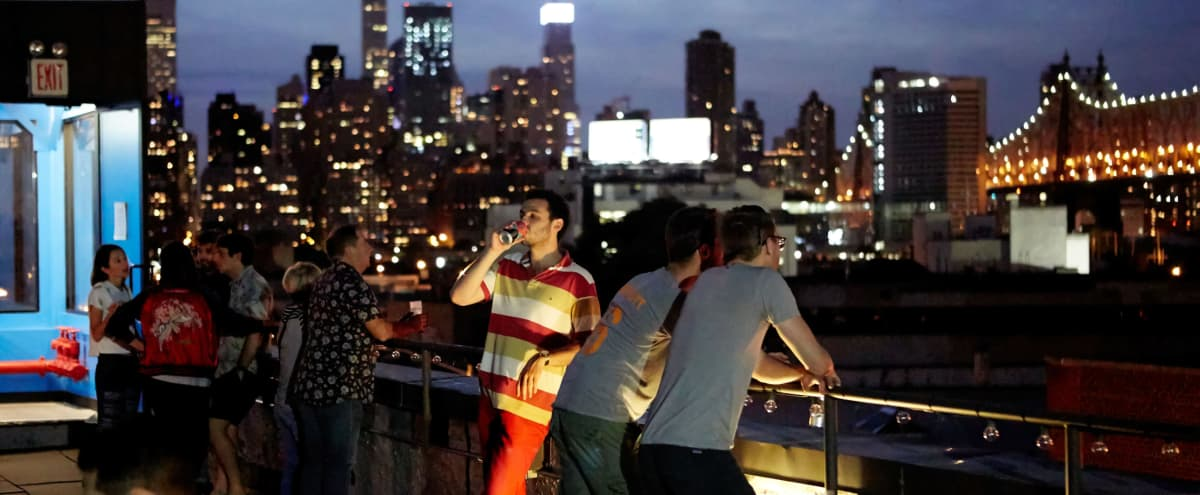 Rooftop with views of the Manhattan skyline in Long Island City Hero Image in Long Island City, Long Island City, NY