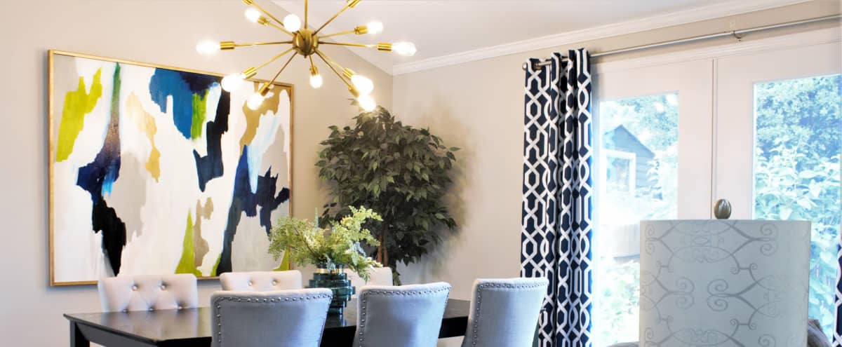Chic Designer decorated Ranch Home in Norcross Hero Image in Gwinnett Village, Norcross, GA