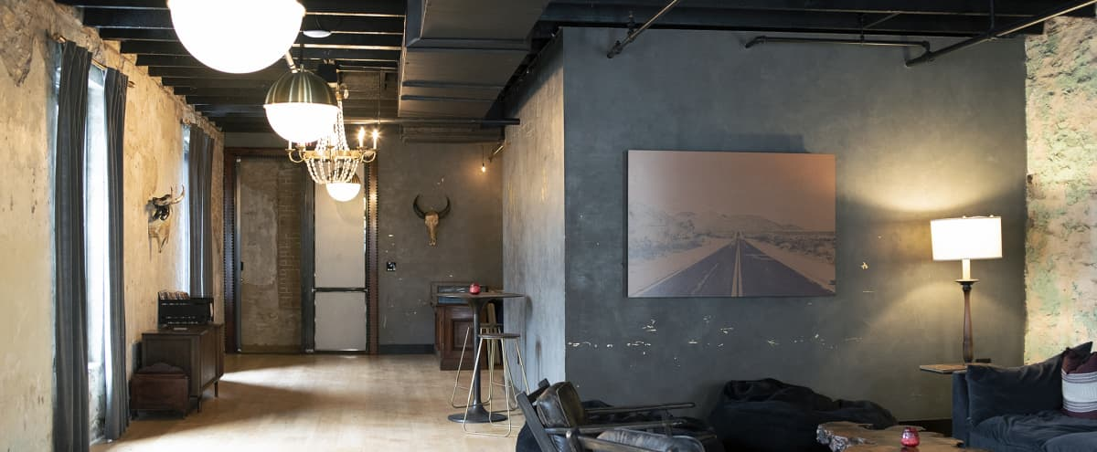The perfect private party room, attached to a historic railroader hotel, bar and adjoining mid-century warehouse in downtown Austin in Austin Hero Image in East Cesar Chavez, Austin, TX