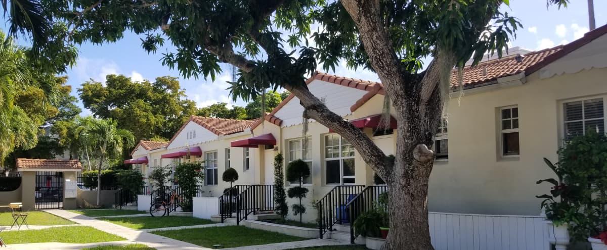 1930's Mediterranean Revival Courtyard with Mango Tree - South Beach Historic District in Miami Beach Hero Image in Flamingo / Lummus, Miami Beach, FL