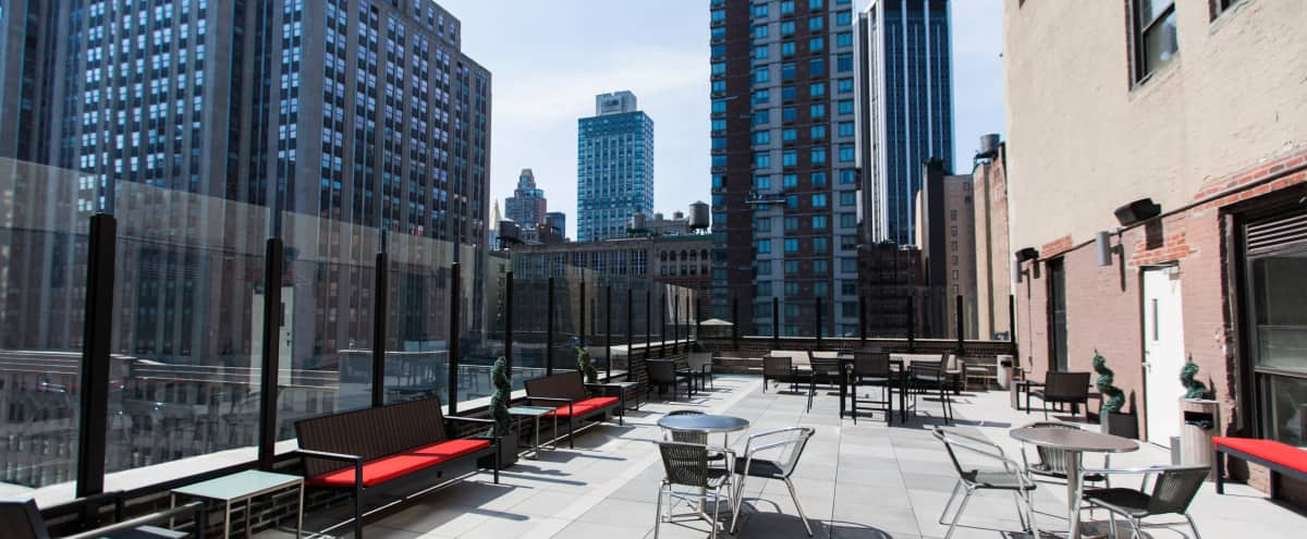 Amazing 2,000 SF Rooftop Terrace in Midtown Overlooking the Empire State Building in New York Hero Image in Midtown, New York, NY