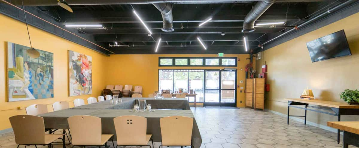 Dining Room Meeting Space + Professional Kitchen in Oakland Hero Image in Southwest Berkeley, Oakland, CA