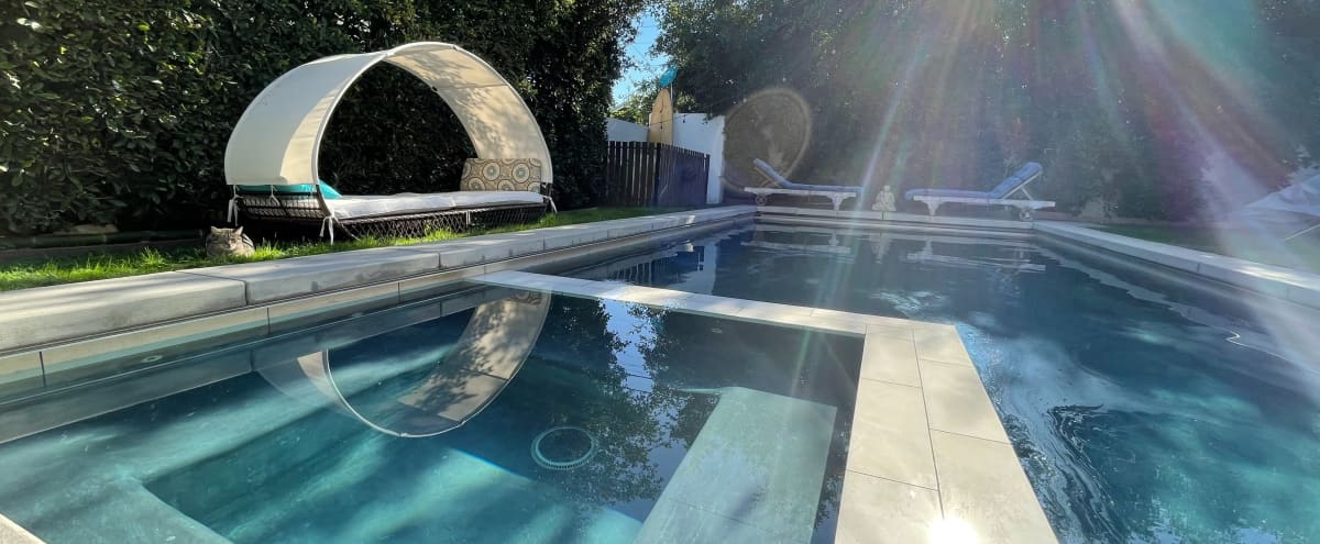 Magical Backyard of Mystic Manor w/ Pool, Hot-tub, and Fire Pit in Venice Hero Image in Venice, Venice, CA