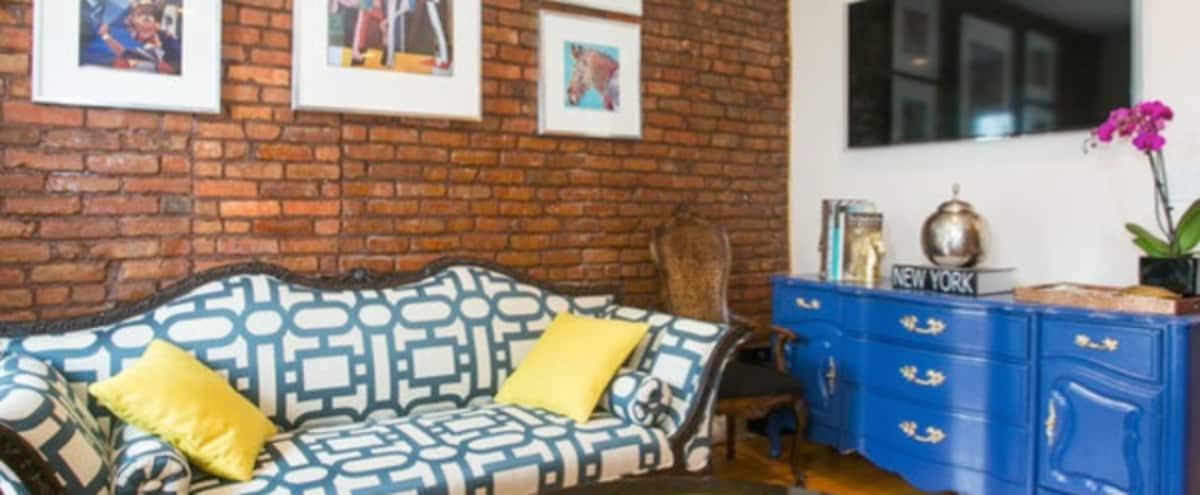 Large Luxury 2 Bedroom Urban Apartment w/ Exposed Brick - 1000 SQ FT in Brooklyn Hero Image in Bedford-Stuyvesant, Brooklyn, NY