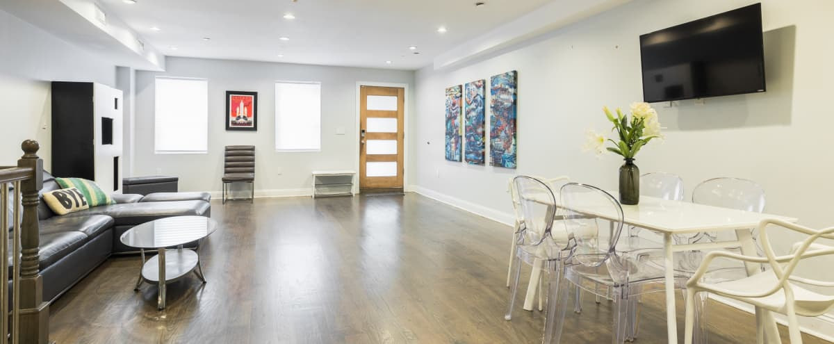 Modern Garden Duplex with Space for a Special Event or demo in BROOKLYN Hero Image in Bedford-Stuyvesant, BROOKLYN, NY
