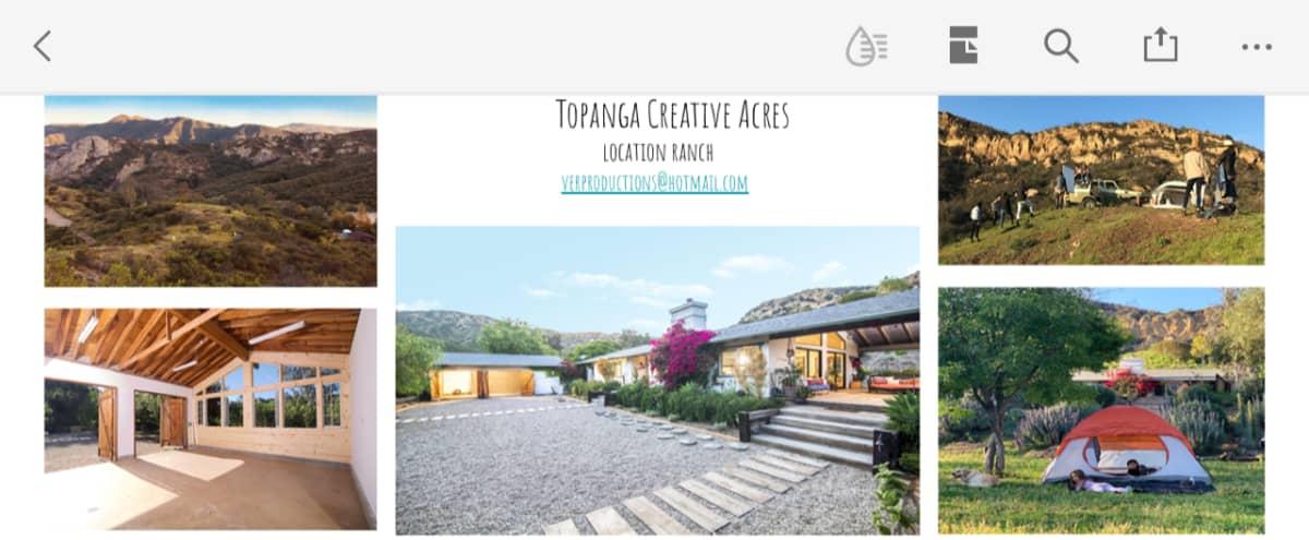 TOPANGA CREATIVE ACRES. 10 acre ranch for stills and motion productions. in Topanga Hero Image in Old Topanga, Topanga, CA