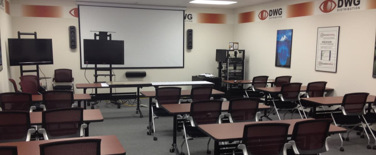 30 seat training room with 108\ in Hicksville Hero Image in Hicksville, Hicksville, NY
